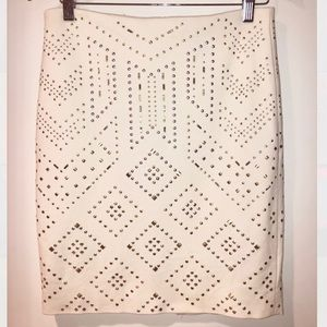 White House black Market Studded Skirt